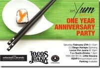 Free sushi and drinks at Mr. Yum