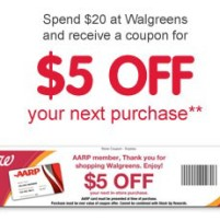spend $20 at Walgreens, get $5 coupon