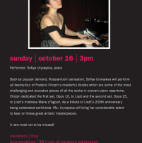 Piano concert at the Bass