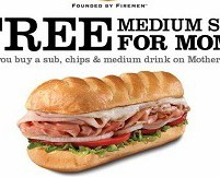 Coupon: Free Firehouse Sub For Moms