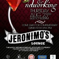Cocktails & Networking at Jeromino's Lounge August 23