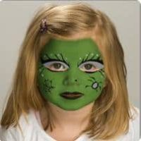 Halloween face-painting idea for girls