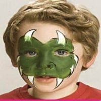 Halloween monster face painting, how-to