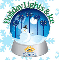Holiday Lights and Ice festival in Doral