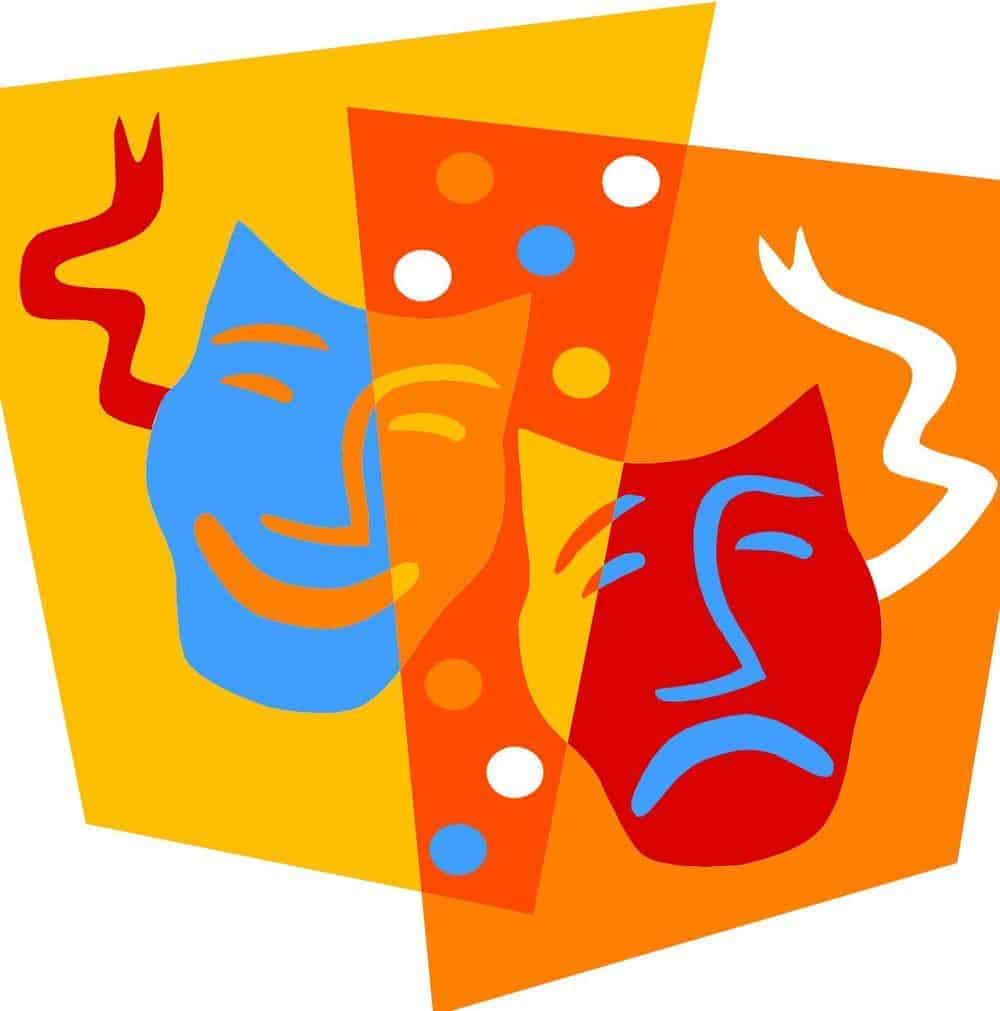 Colorful Theater Masks | www.imgkid.com - The Image Kid ...