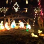 Holiday display of Christmas lights in Cutler Bay