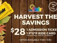 Youth Fair 'Harvest the Savings' deal
