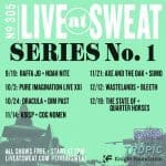Free concerts at Sweat Records