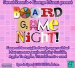 Free board game night at Sweat Records