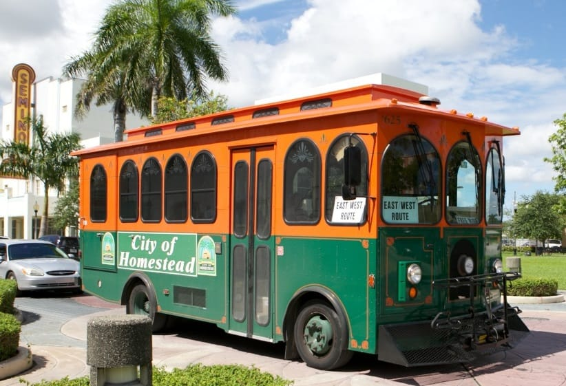free homestead trolley to national parks - miami on the cheap