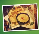 Free queso dip at Lime Fresh Mexican