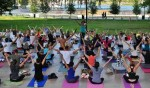 Free yoga classes at Bayfront Park