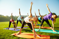 Free yoga classes at Jose Marti Park