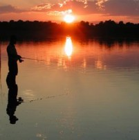 fishing-sunset