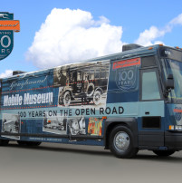 Greyhound Mobile Museum bus