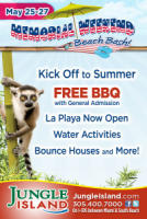 Free lunch Memorial Day weekend at Jungle Island